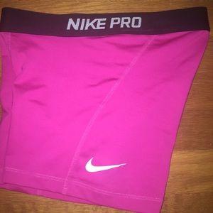 Nike Pro Training Shorts Hot Pink / Black